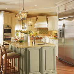 Off White Kitchen Cabinets Glass Door Cabinet With Glaze Omega Cabinetry In A Traditional