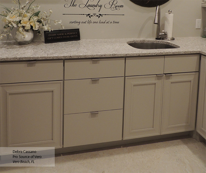Magnolia Off White Cabinet Paint on Maple  Omega
