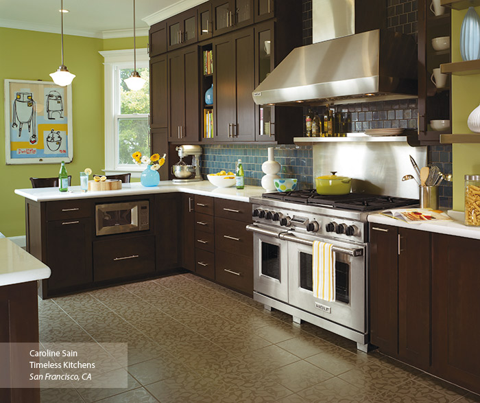 omega kitchen cabinets curtain fabric modern walnut bathroom vanity - cabinetry