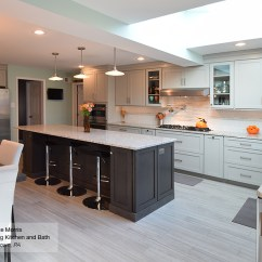 Grey Kitchen Island Top Rated Stoves Light With Dark Cabinets Omega