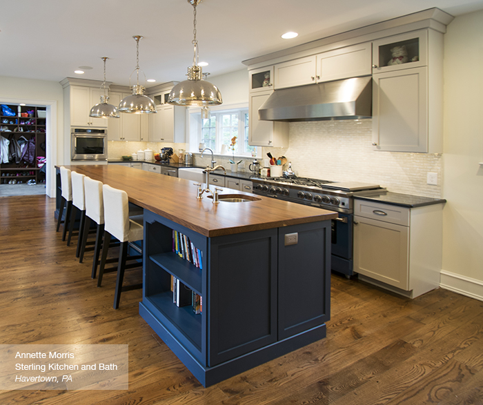 blue kitchen island white kitchens cabinets off with a omega