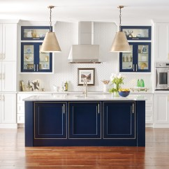 Large White Kitchen Island Resurface Cabinets With Custom Blue Omega Design Style Room Casual