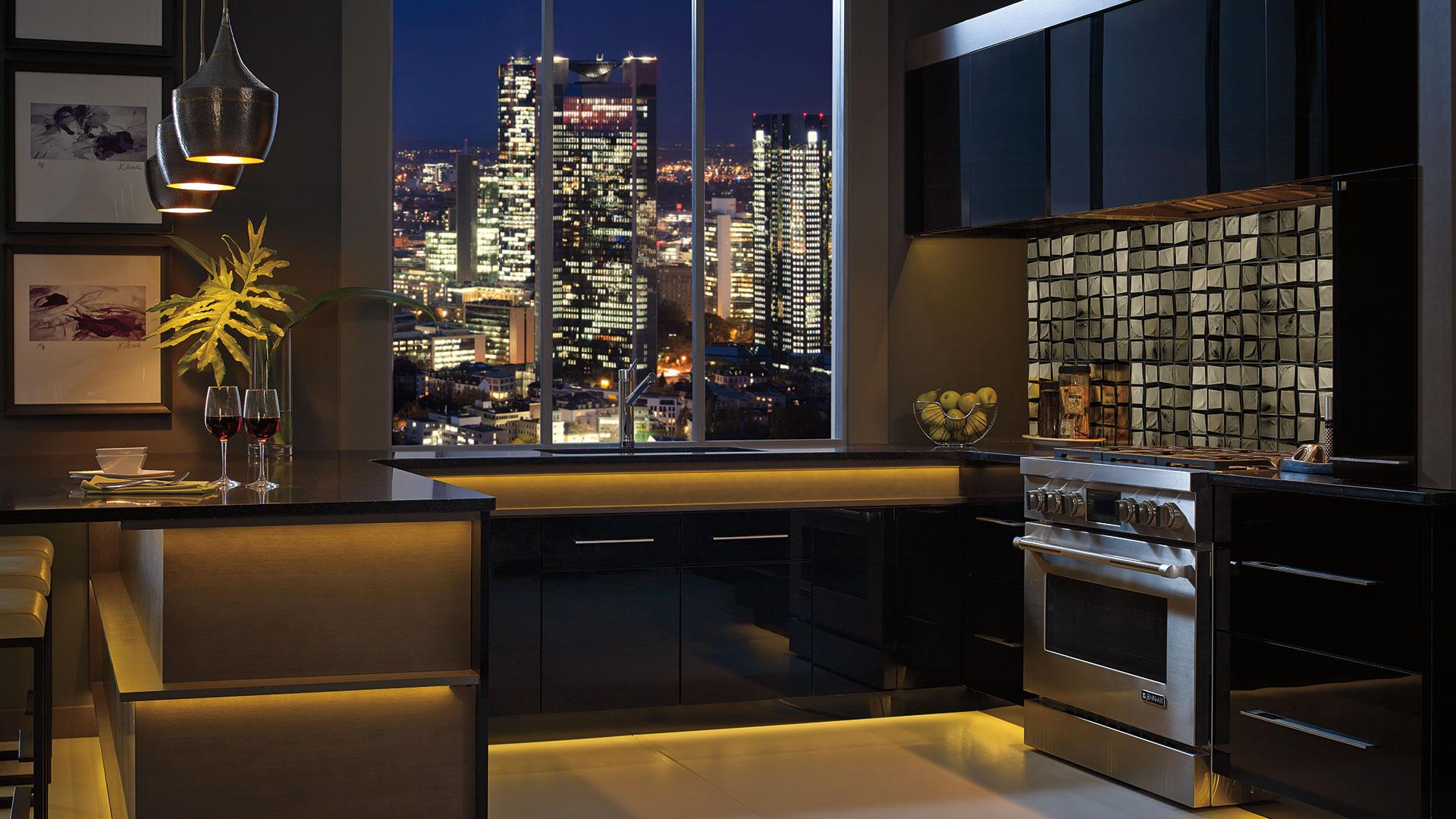 acrylic kitchen cabinets honey oak contemporary in black finish design style room