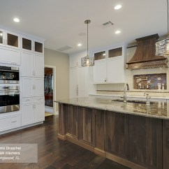 Walnut Cabinets Kitchen Custom Rugs White With A Island Omega