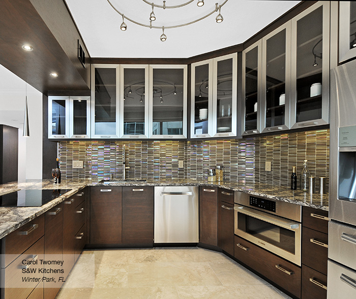 walnut cabinets kitchen outdoor with pizza oven contemporary omega