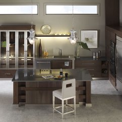 Walnut Cabinets Kitchen Center Islands Omega Cabinetry Tarin In Riverbed And Kodiak Finishes