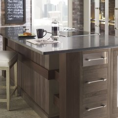Walnut Cabinets Kitchen Farmhouse Table With Bench Omega Cabinetry