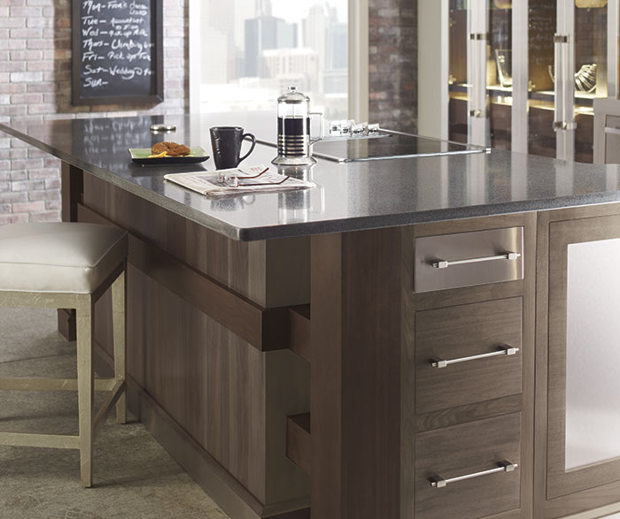 walnut cabinets kitchen mobile home remodel omega cabinetry
