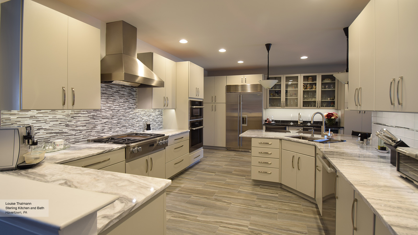 Modern Kitchen With Light Grey Cabinets Omega