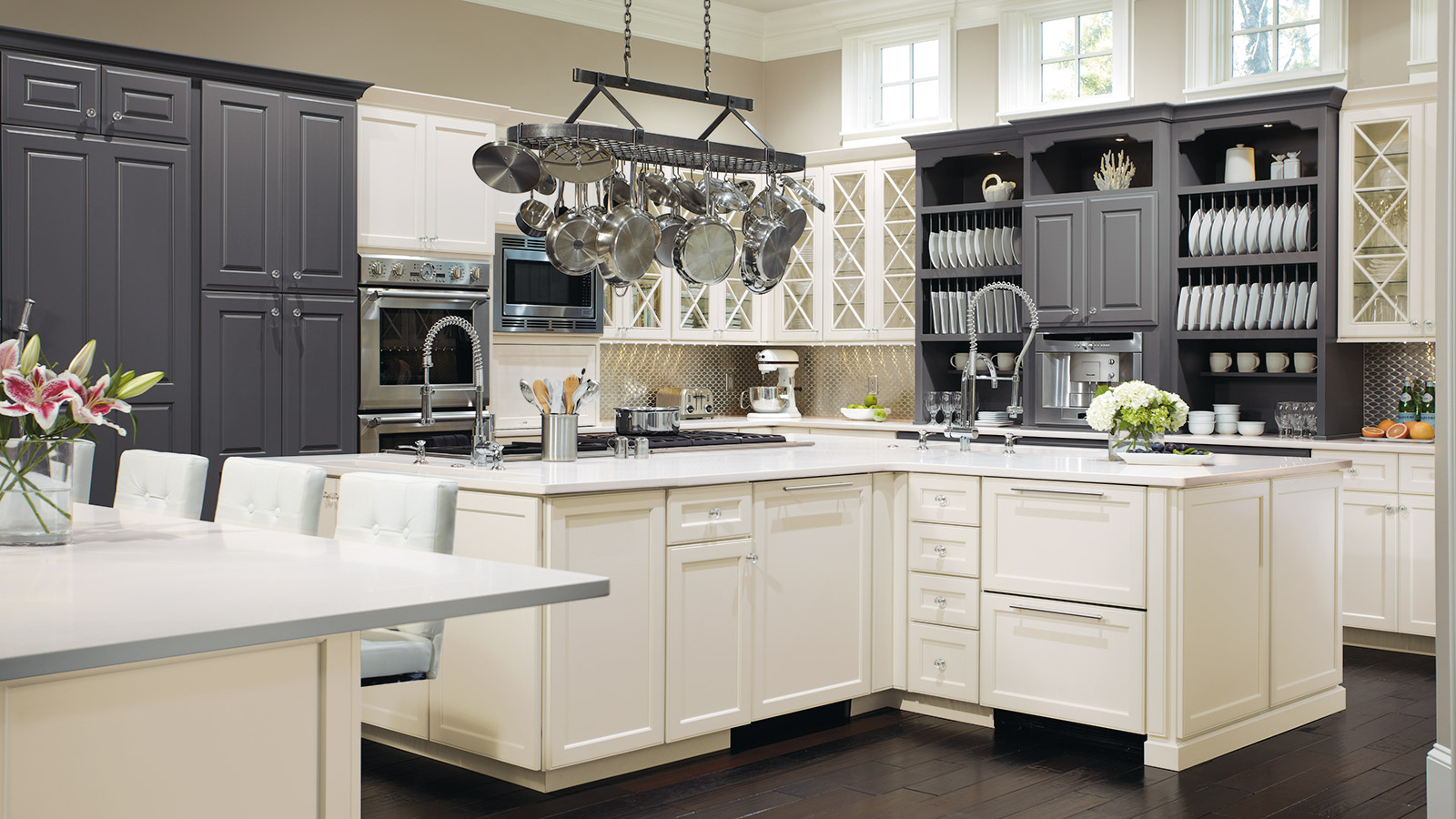 omega kitchen cabinets single hole faucet with pull out spray open design custom cabinetry