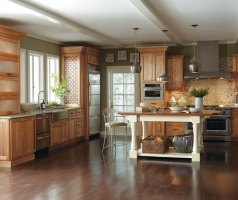Natural Cherry Wood Kitchen Cabinets – Society of Interior ...