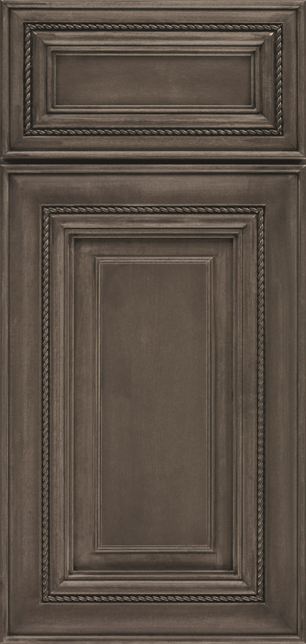 kitchen door hardware sink hose smokey hills gray cabinet stain on maple - omega