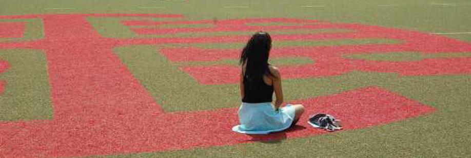 HKIS student practicing stillness