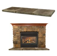 Elk-Ridge fireplace stone mantel - OmegaMantels.com