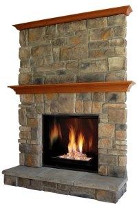 Elk-Ridge fireplace stone mantel - OmegaMantels.com