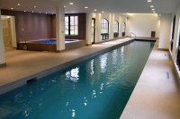 Indoor Lap Pool and Spa with Pool Cover Morristown New