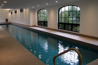 Indoor Lap Pool and Spa with Pool Cover Morristown New ...