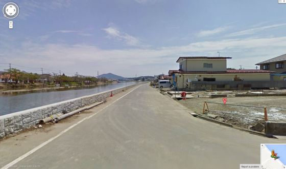 Street View Three Months After The Tsunami