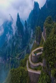 Switchback Mountain, Tianman Hwy, China
