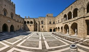Palace of the grand master of the knights of rhodes - Greece island