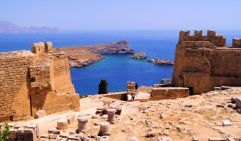 The ancient acropolis of lindos - Greece island