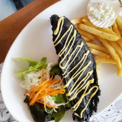 Fry Dory with Charcoal - O Fish Gading Serpong