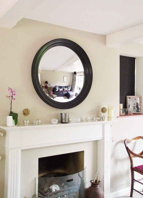 Round Decorative Mirrors for Over Fireplace
