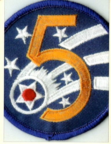 Insignia worn by Gil Deibel for the Fifth Army Air Force