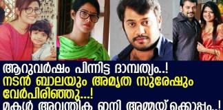 Amritha Suresh and Bala Divorce