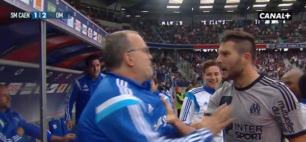 Caen - Olympique de Marseille 1-2 Gignac 93' (04/10/2014) - Bielsa et Gignac