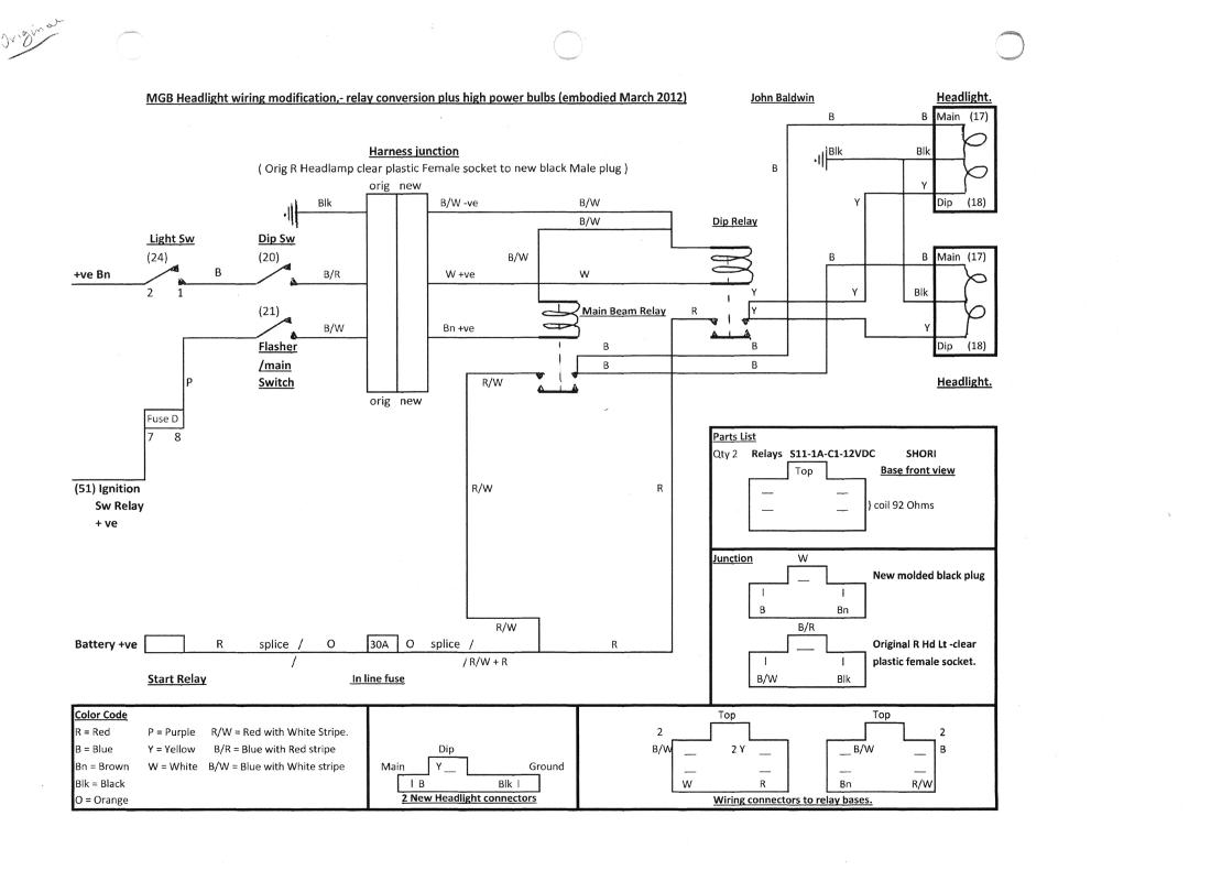 wiring diagram 1976 mgb