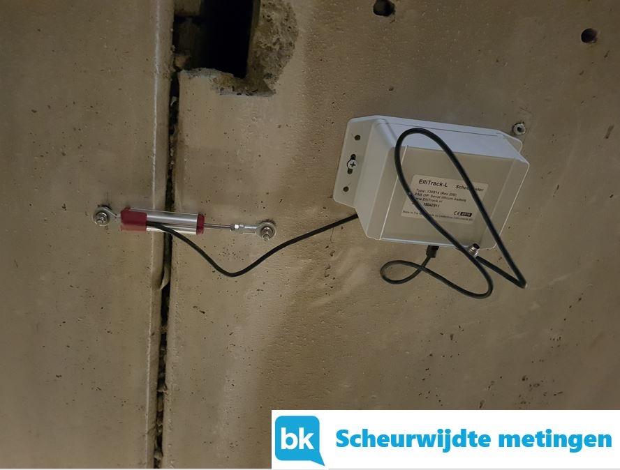 Scheur meting BK bouw en milieuadvies