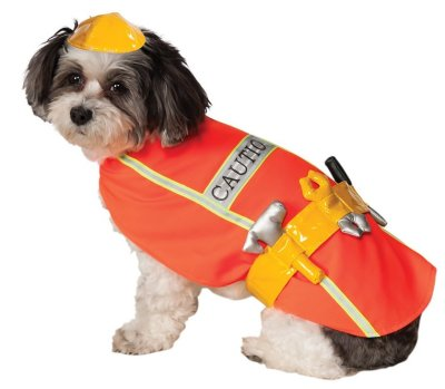 Construction Worker Pet Costume
