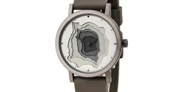 Artsy Gray Topographic Map Watch