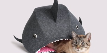 Great White Shark Cat Bed | Funny Novelty Cat Bed