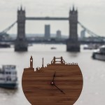 Handmade Wooden London Skyline Clock