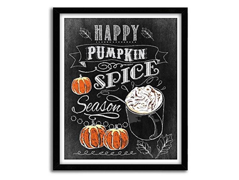 "Handmade ""Happy Pumpkin Spice Season"" Autumn Art Print"