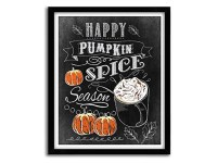 "Handmade ""Happy Pumpkin Spice Season"" Autumn Art Print"