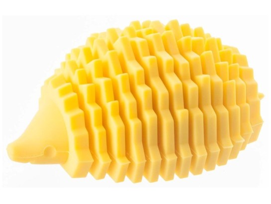 Yellow Silicone Hedgehog Business Card Holder