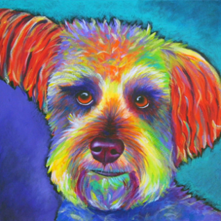 Schnoodle - acrylic painting