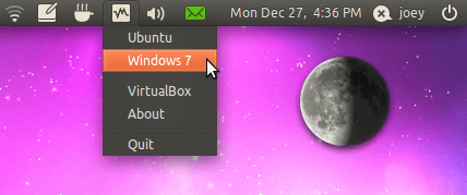 Indicator virtualbox for Ubuntu