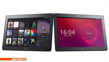 Bq Ubuntu tablet in landscape