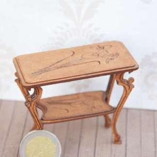 miniature table art nouveau