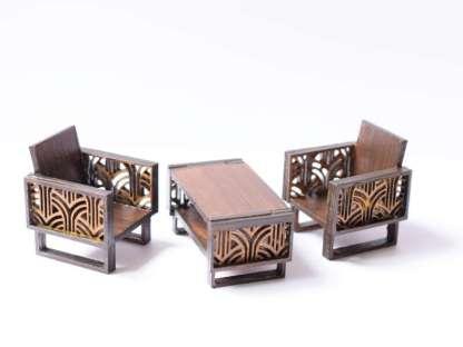 miniature art deco coffee table