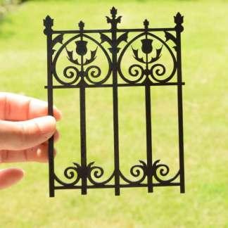 thistle fence panel