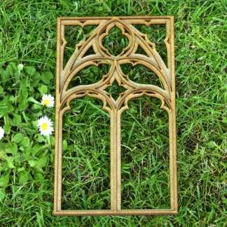 miniature gothic tracery window