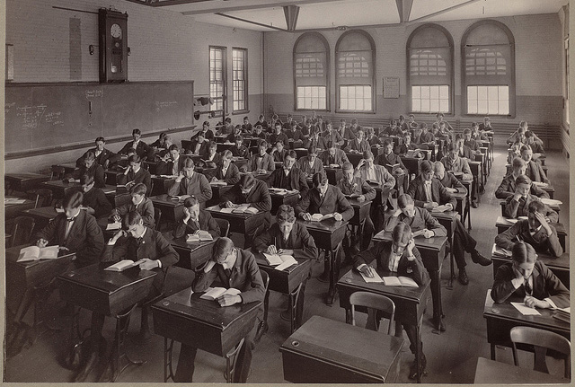 class room old timey