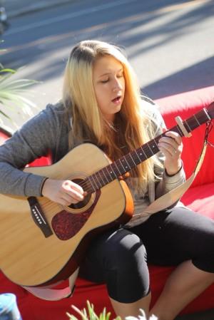 Caila Ellerman at Saskatoon Park(ing) Day