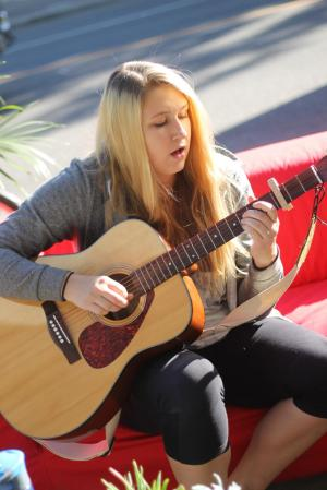 Caila Ellerman at Saskatoon Park(ing) Day