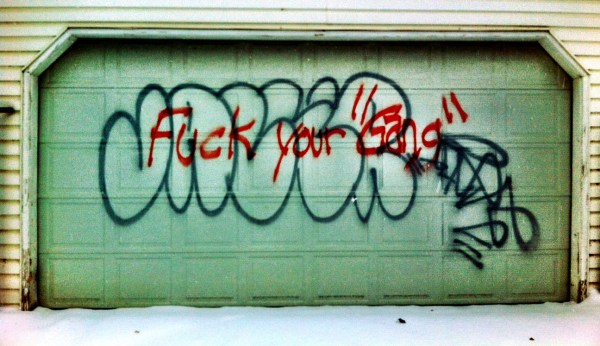 """""""Fuck your gang"""""""